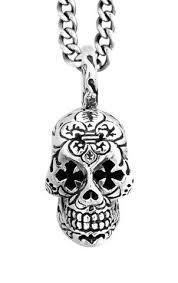 cross skull necklace images Mens day of the dead pendant dead skull pendants for men king baby jpg