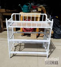 Changing Table Shelves repurposed changing table potting bench prodigal pieces
