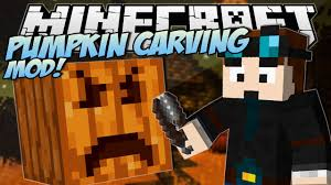 minecraft pumpkin carving mod create any pumpkin design