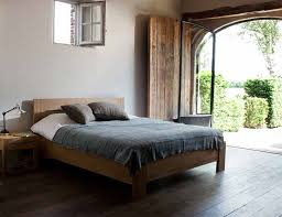 solid wood bed frame and headboard med art home design posters