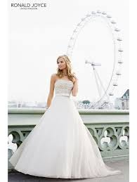 wedding dresses in glasgow ronald joyce 17916 oceana beaded bodice organza skirt ivory