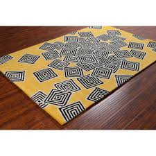 Cream And Grey Area Rug by Stella Collection Hand Tufted Area Rug In Yellow Cream U0026 Black