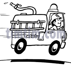 free drawing of fire truck bw from the category cars trucks buses