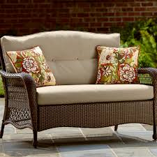 All Weather Wicker Loveseat Grand Harbor May Street Loveseat Outdoor Living Patio