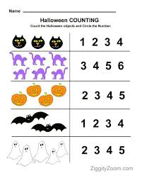 halloween counting preschool worksheet ziggity zoom