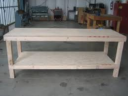 Howtobuildworkbench For Use As A Farmhouse Tablecenter - Work table design plans