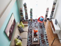 interior design for small living room and kitchen colorful clever small spaces from hgtv hgtv
