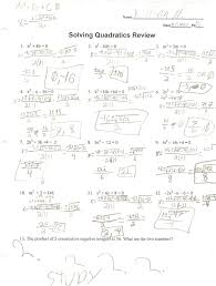 worksheets for all and share free on solving quadratic equations solving quadratic equations by factoring lessons
