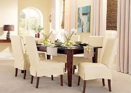 stylish slip covered dining chairs intended for encourage