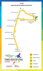 Map Your Run Race Category Nagpur Maha Marathon