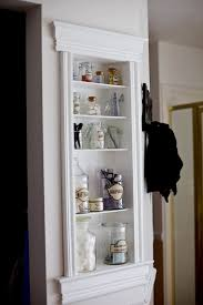 Shelves Between Studs by Bathroom Misc Supply Shelf Built Into Bathroom Wall Between Studs