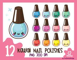 kawaii nail polish clipart nail polish clip art manicure