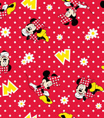 minnie mouse christmas wrapping paper licensed flannel fabric minnie mouse dot joann