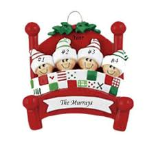 bed heads family 4 personalised ornament the ornament