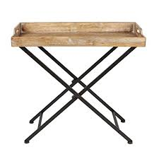 removable tray top table amazon com kate and laurel marmora metal tray table with removable
