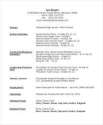 Resume With No Job Experience Template Sample Of High Resume Resume High Resume With No Job