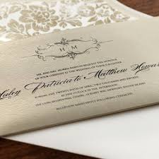 Wedding Invitations Houston Personalized Golden Sweetheart Pocket Wedding Invitation Einvite Com