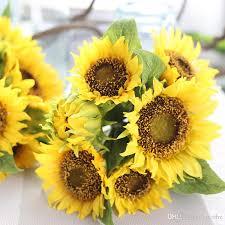 sunflower bouquet 2017 high grade simulation sunflower bouquet plants arrange