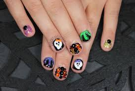 halloween finger nail designs finger painted the one with nail