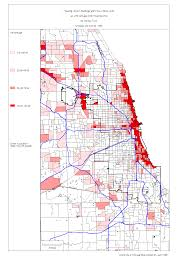 Blue Line Chicago Map by Chicago 1990 Census Maps