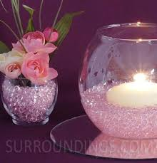 Diamond Vase Fillers In Diamond Drops Floating Candle Centerpiece