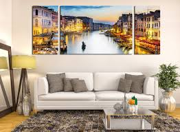 3 piece large pictures cityscape wall decor boat multi panel art 3 piece artwork living room huge canvas art yellow group canvas city canvas