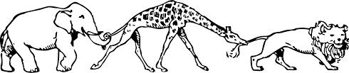 giraffe lion elephant animal parade u2013 free printable public domain