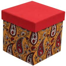 Decorative Christmas Gift Boxes Red Cubical Gift Box In Hardboard U2013 Handmade In Bulk At Wholesale