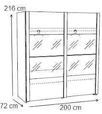 dimension porte chambre armoire adulte contemporaine portes coulissantes chêne clair