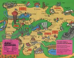 Mountain Map 1988 Six Flags Magic Mountain Map U0026 Guide The Coaster Guy