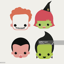 halloween characters clipart cute halloween characters vector art getty images