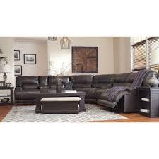 mccaskill gray power reclining sectional set signature design