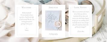 wedding invitation calligraphy on three designs