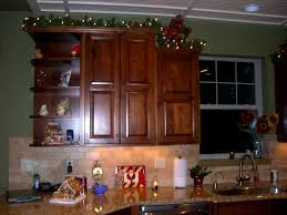 ideas for decorating above kitchen cabinets christmas nrtradiant com