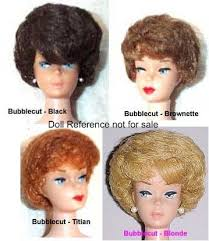 bubble cut hairstyle barbie vintage dolls identified 1959 1962