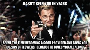 Great Gatsby Meme - haven t seen you in years great gatsby reaction know your meme