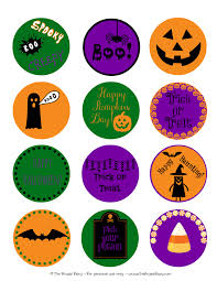 Halloween Cup Cake Printable Halloween Cupcake Toppers The Frugal Fairy