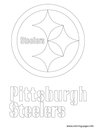 pittsburgh steelers logo football sport coloring pages printable