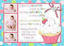 cupcake invitations 1st birthday iidaemilia com