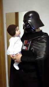 darth vader halloween costume fall projects daddy vader and baby leia homemade star wars
