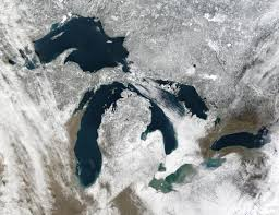 Map Of The United States Great Lakes by Nasa Visible Earth The Great Lakes