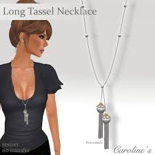 long necklace with tassel images Second life marketplace caroline 39 s jewelry long tassel jpg