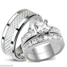 his and hers bridal edwin earls his hers wedding rings aaa quality cz ring set