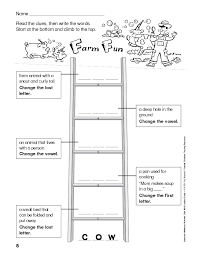 daily word ladders grades 1 2 50 reproducible study and printable