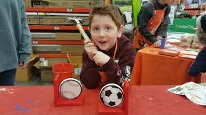 home depot kids workshop u2013 sports bookends the nazarian family blog