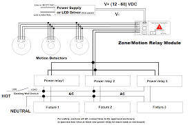how to wire a motion sensor to multiple lights peak demand automation zone motion relay