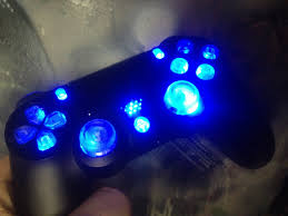 ps4 controller white light ps4 controller led mod update clear buttons playstation 4 how to