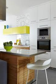 Yellow Kitchen Cabinet by Modern Small Apartment Kitchen With Countertop And Beautiful