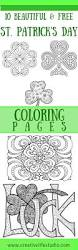 st patrick day coloring roundup creative life studio
