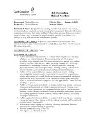 Medical Assistant Duties For Resume Description Essay